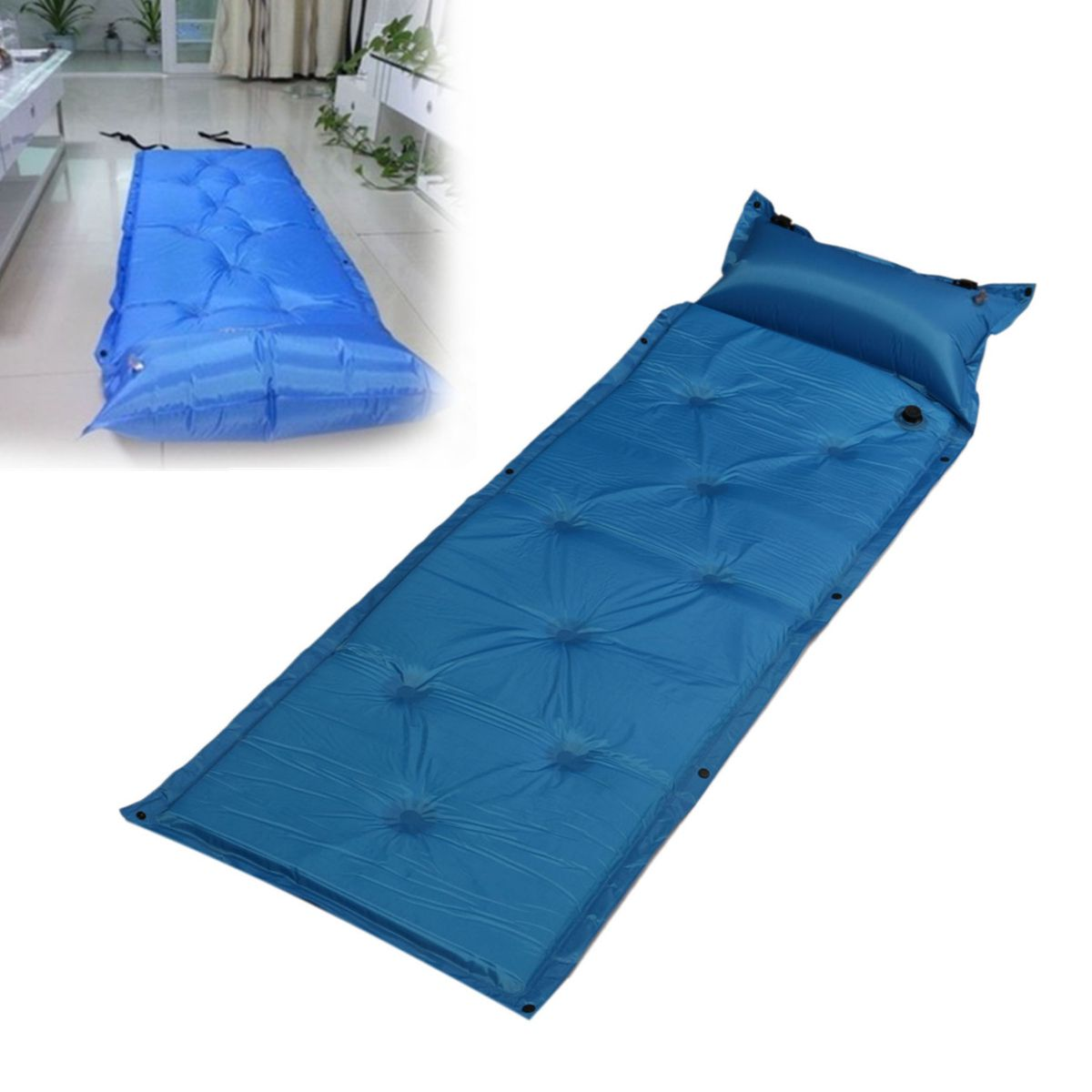 4pcs Self Inflating Mat Outdoor Tent Sleeping Pad Hiking Pillow Air Mattress Camping Outdoor Tent Air Mattress Camping Sleeping Pads Outdoor Tent