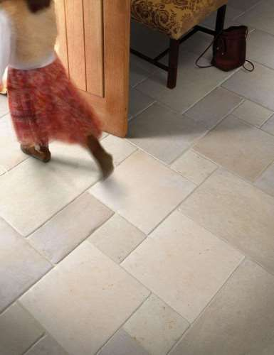 Jerusalem Grey Gold Tumbled Limestone Tiles Marshalls