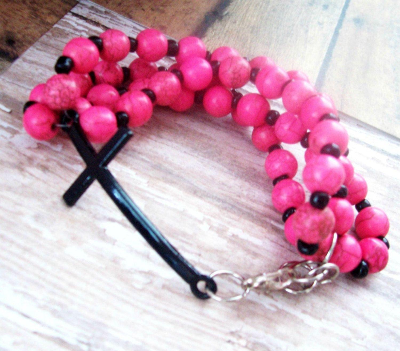 Sideways Cross Bracelet, Christian Jewelry, Christian Bracelet with ...