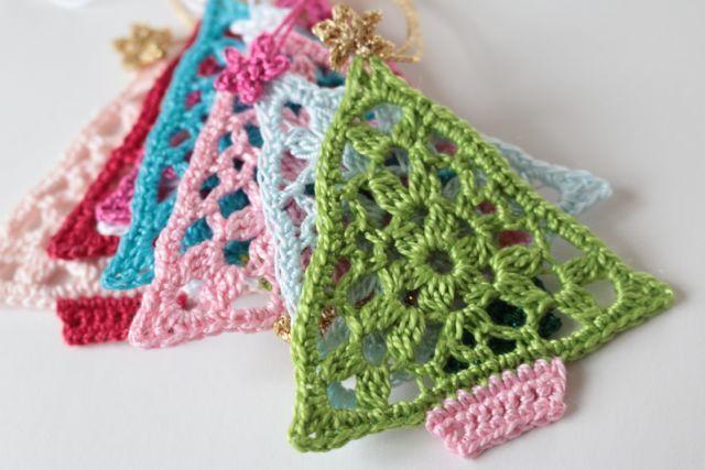 Crochet trees (free crochet pattern )