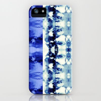 Tie Dye Blues Striped iPhone & iPod Case by Nina May  - $35.00