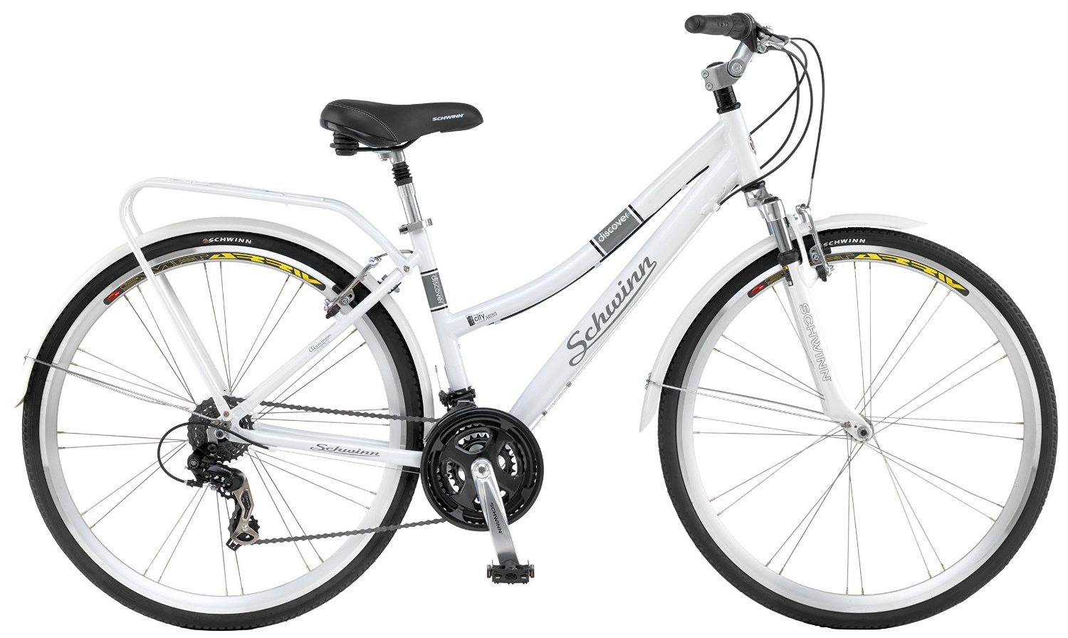 Amazon Com Schwinn Discover Women S Hybrid Bike 700c Wheels