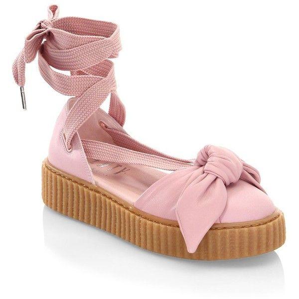 aa91c8dbe21 PUMA FENTY Bandana Leather Creeper Flats ( 180) ❤ liked on Polyvore  featuring shoes