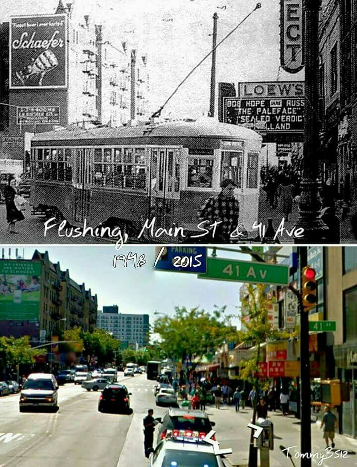 Flushing, Main Street = Queens, NY - Then and Now | Interesting to