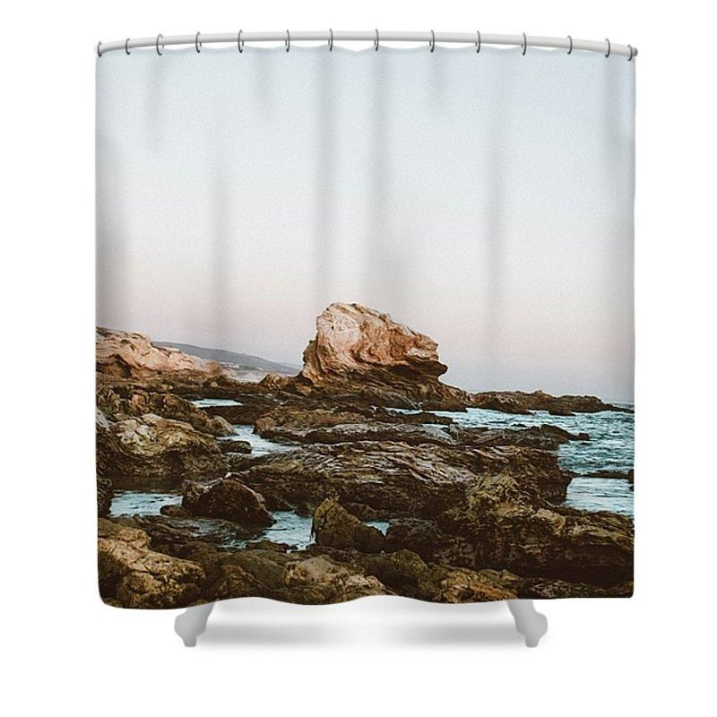 Cliff Hightide Holiday Lagunabeach Landscape Lowtide Mothernature Nature Ocean Oceanwater Outdoor Outsi Curtains With Rings Shower Curtain Curtains