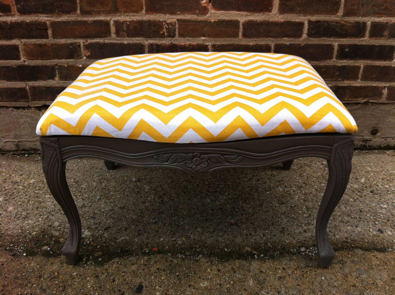 Groovy French Provincial Chevron Ottoman 99 00 Via Etsy For Ibusinesslaw Wood Chair Design Ideas Ibusinesslaworg