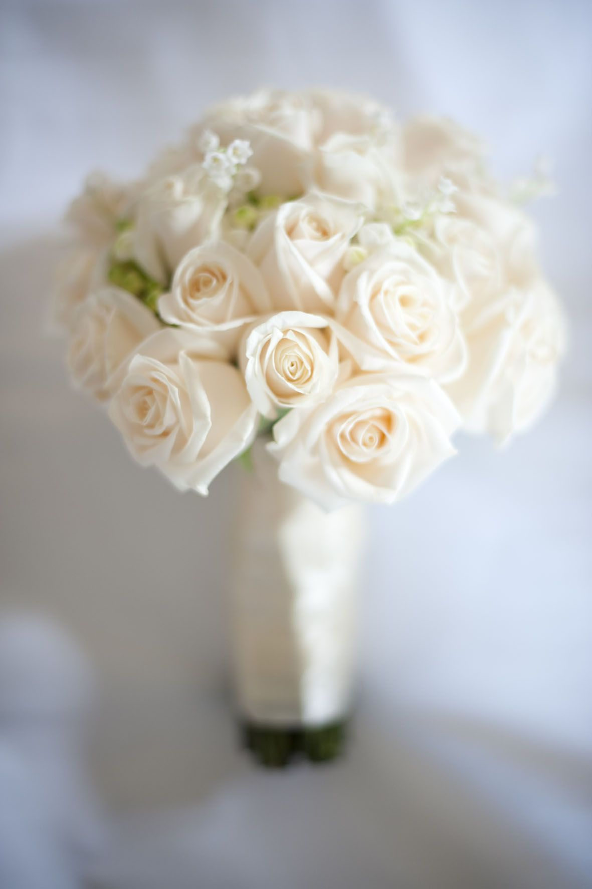Cream Roses And Lily Of The Valley Bouquet