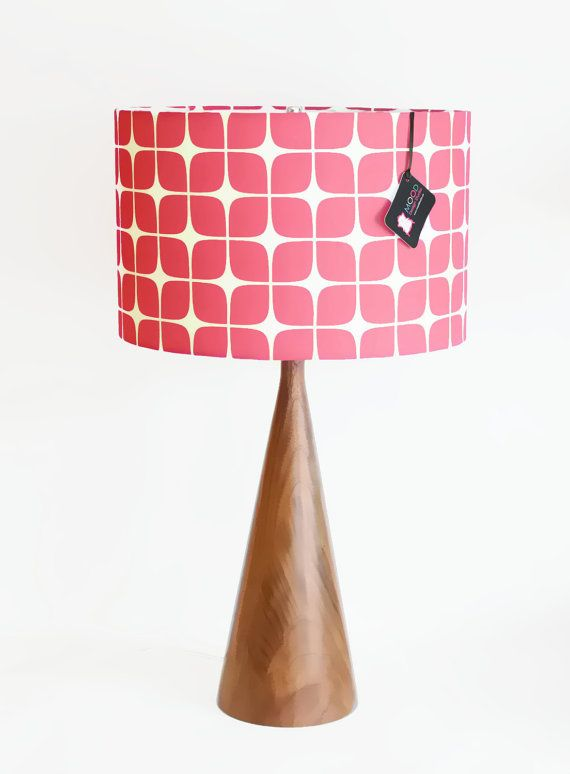 Modern Lamp Shade Raspberry Geometric By Mooddesignstudio 89 00