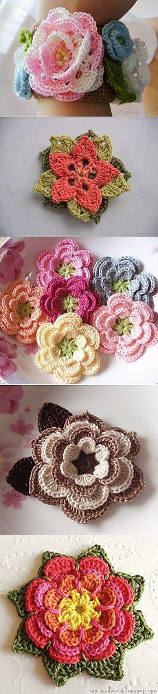 сообщение Valya6827 : Вязаные цветы и цветочные мотивы. Часть 2. (11:20 13-12-2013) [4417122/303300309] - - Почта Mail.Ru