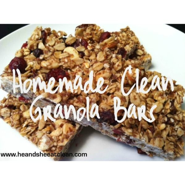 Follow this easy healthy, homemade granola bar recipe! Best of all, it's clean! #fitness #recipe #en...