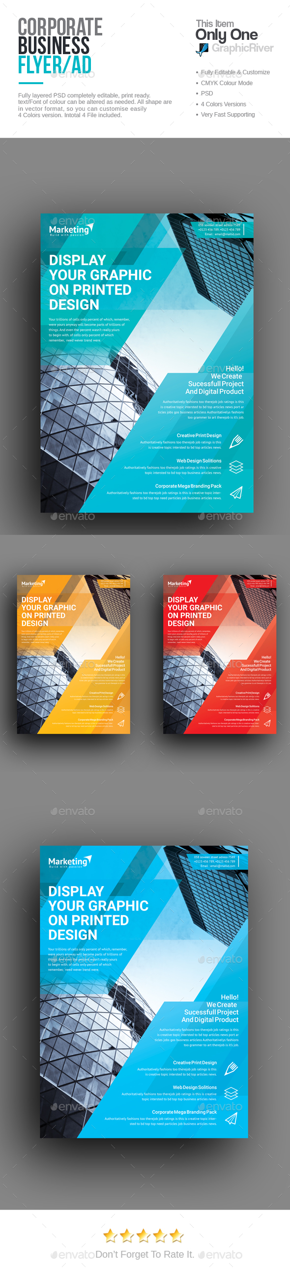 Corporate Flyer Template PSD. Download here: http://graphicriver.net/item/corporate-flyer/16437630?ref=ksioks