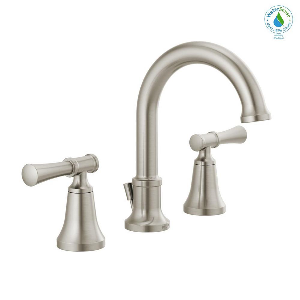Delta Chamberlain 8 In Widespread 2 Handle Bathroom Faucet In