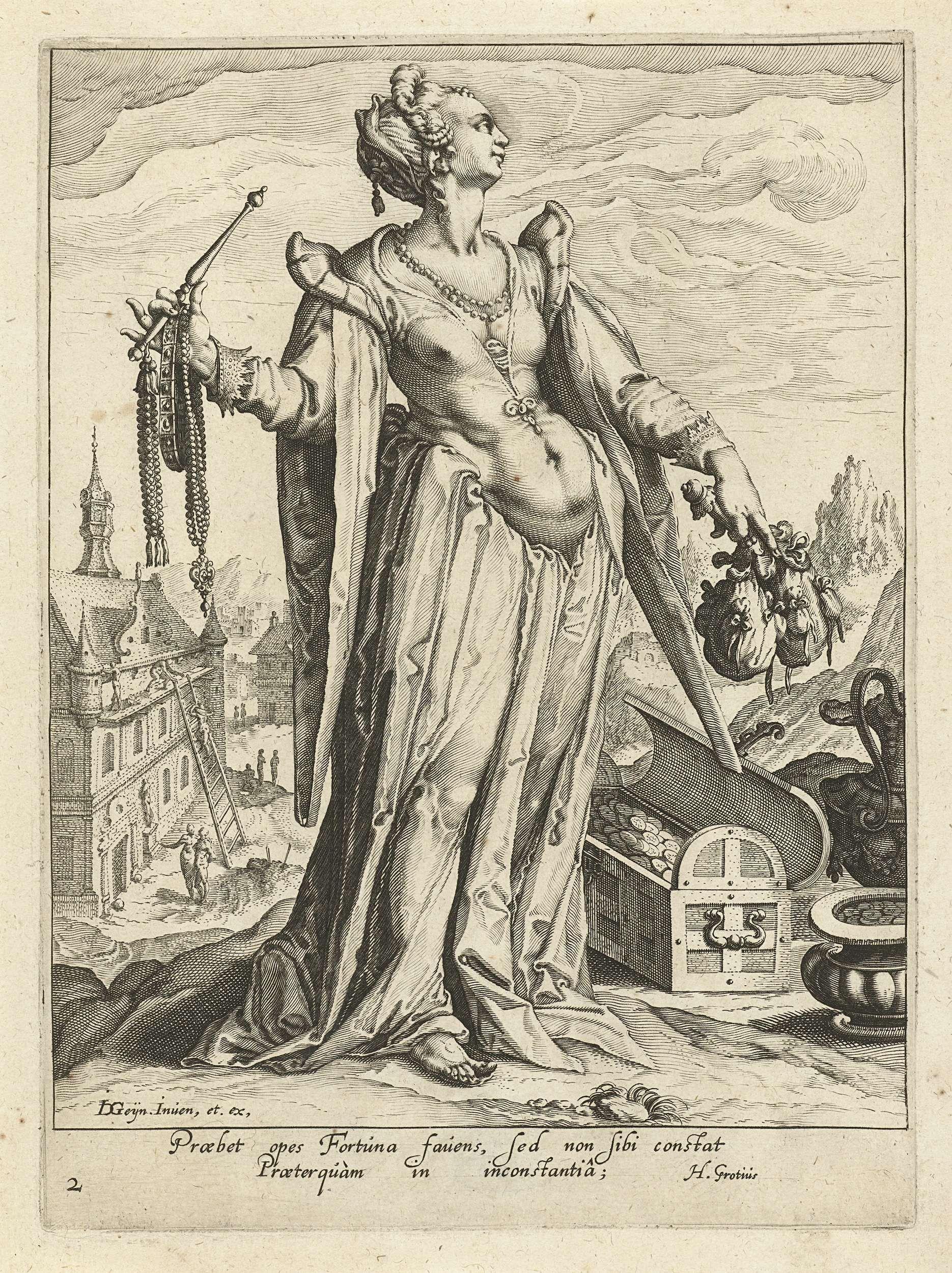 Rijkdom, Zacharias Dolendo, Jacob de Gheyn (II), Hugo de Groot, c. 1596 - c. 1597