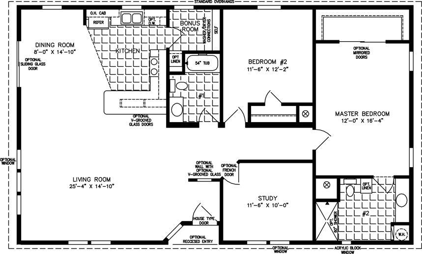 The TNR-5501W - Manufactured Home Floor Plan