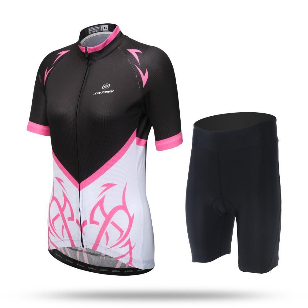 Arrow Pink Short Sleeve Jersey Set Cycling Outfit Sport Outfits