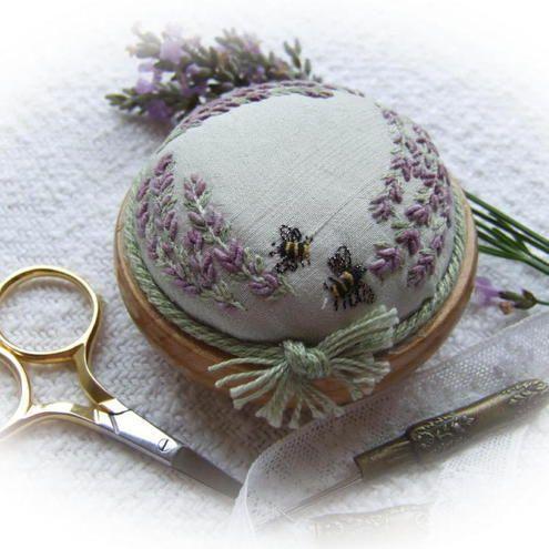 Lavender and Bees Precious Pincushion kit