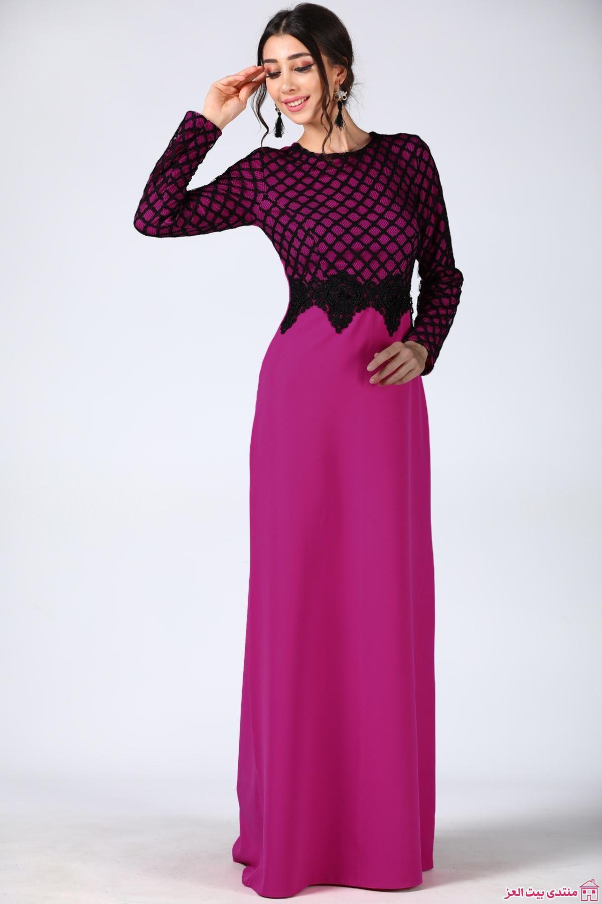 df0d604e8 فساتين طويلة فساتين سهرة طويلة   فاشون وموضه   High neck dress ...