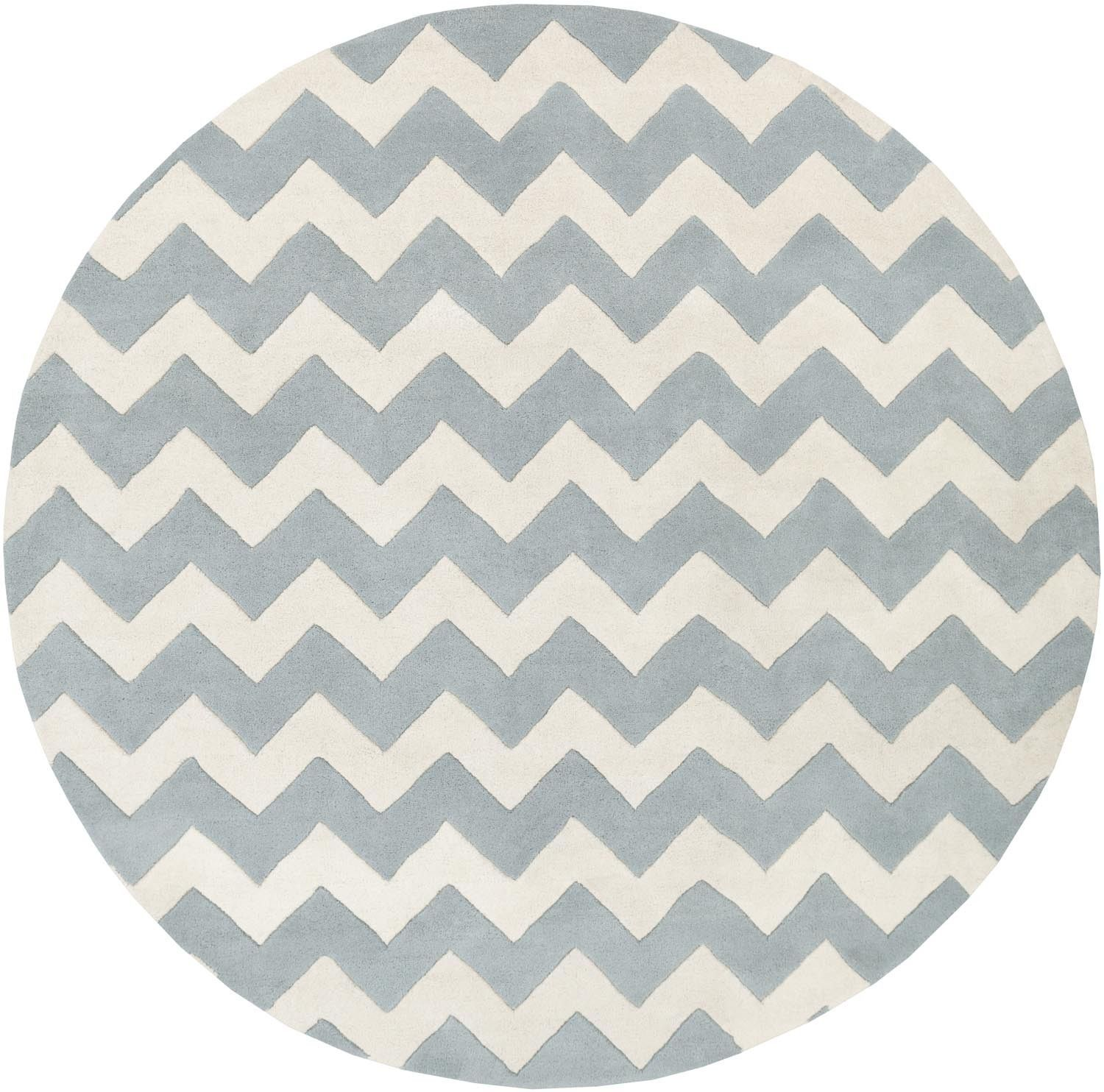 Transit Awat 2041 Light Blue Ivory Modern Premium Wool Rug Area Rug Collections Chevron Area Rugs Wool Area Rugs