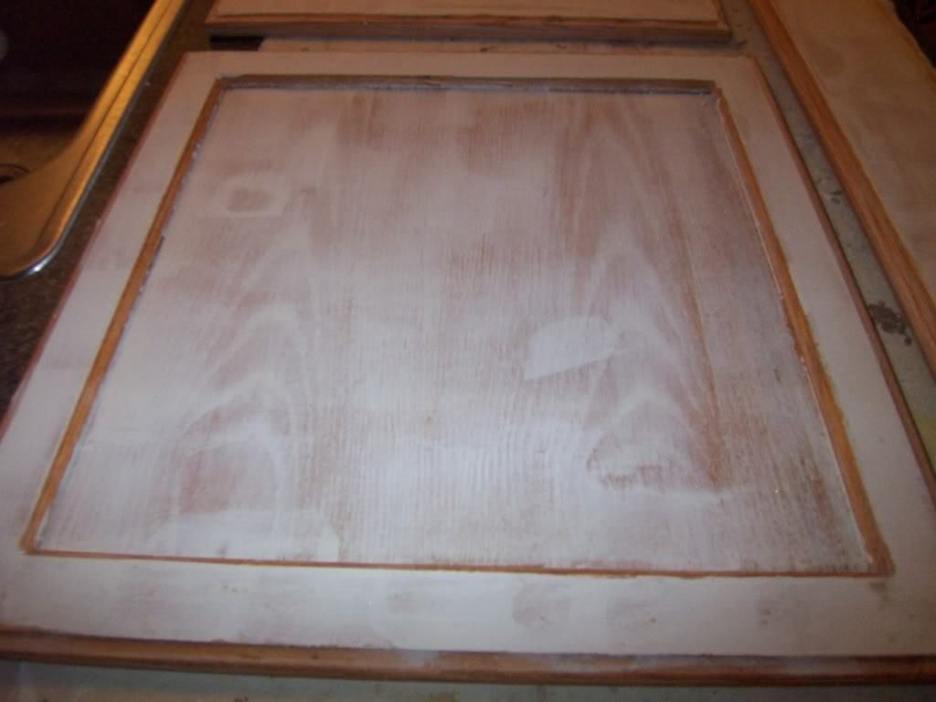 using drywall mud on cabinet doors before painting to hide the using drywall mud on cabinet doors before painting to hide the wood grain she also