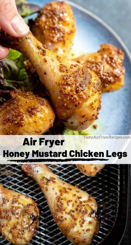 Air Fryer Honey Mustard Chicken Legs Tasty Air Fryer Recipes Recipe Air Fryer Recipes Chicken Chicken Leg Recipes Mustard Chicken