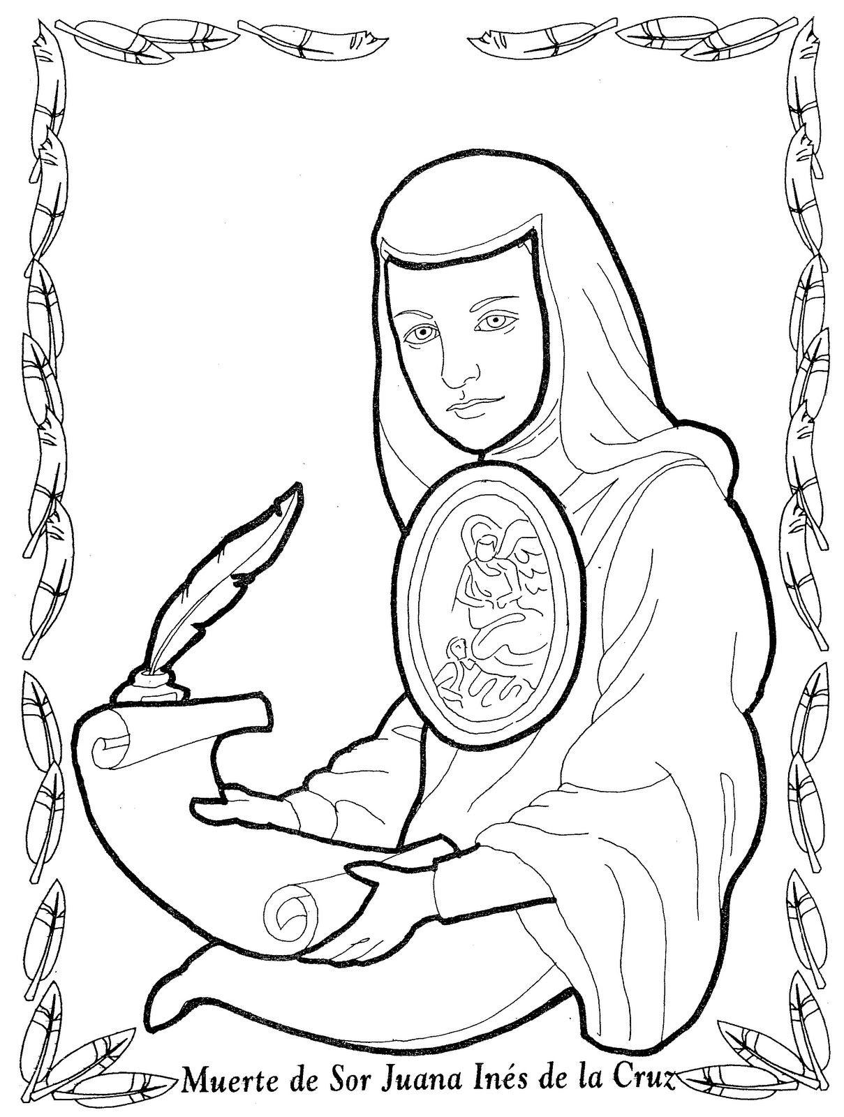 Sor Juana Inés de la Cruz para colorear   1erdia   Pinterest   Sor ...