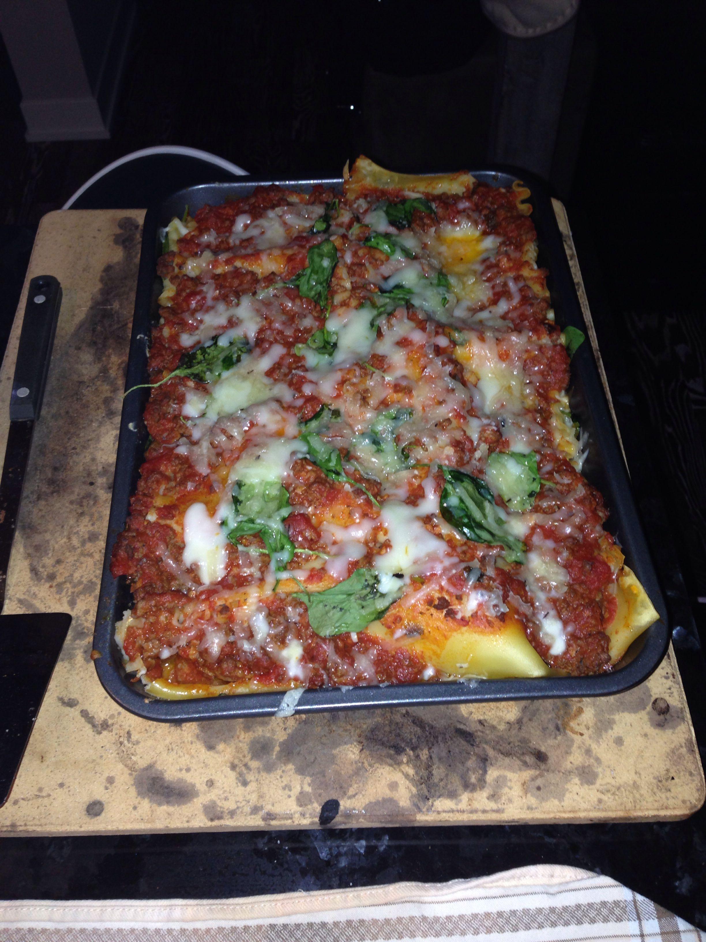 I made 7 layer lasagna tonight #dinner yum!