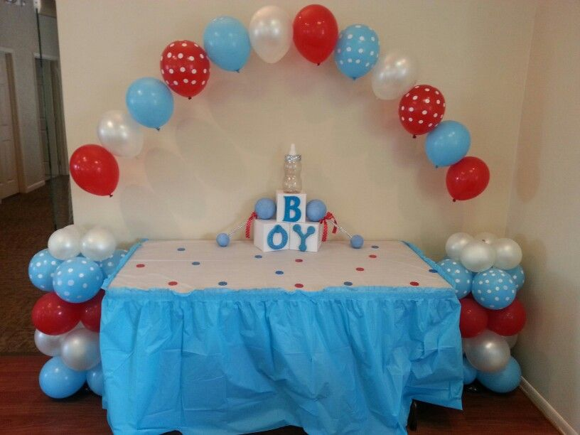 Smurf theme baby shower | KT_KAKES_EVENTS by me | Pinterest | Baby ...