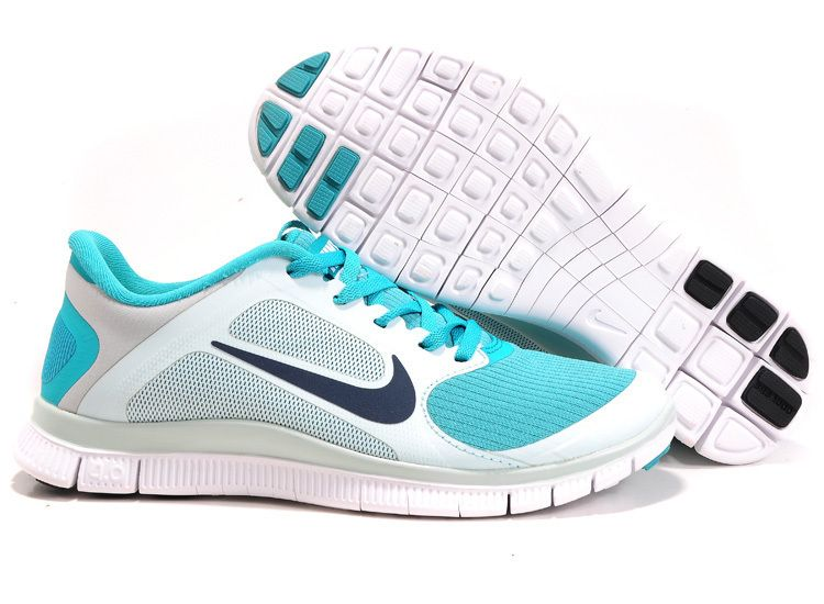 Nike Women Shoes Nike Free 4.0 V3 Blue-White $59.00