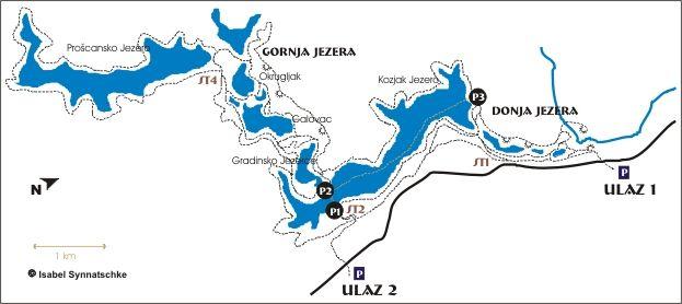 Plitvice Lakes National Park Croatia Map Plitvicer Seen