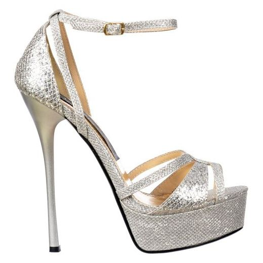 37 SALE /% Riemchen Strass High Heels Sandalette Silber Satin Pleaser Damen Gr