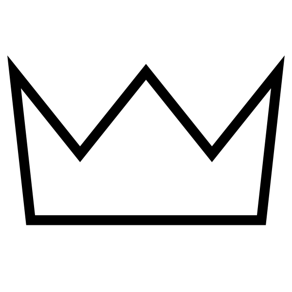 6 Views Crown Outline Crown Clip Art Crown Template
