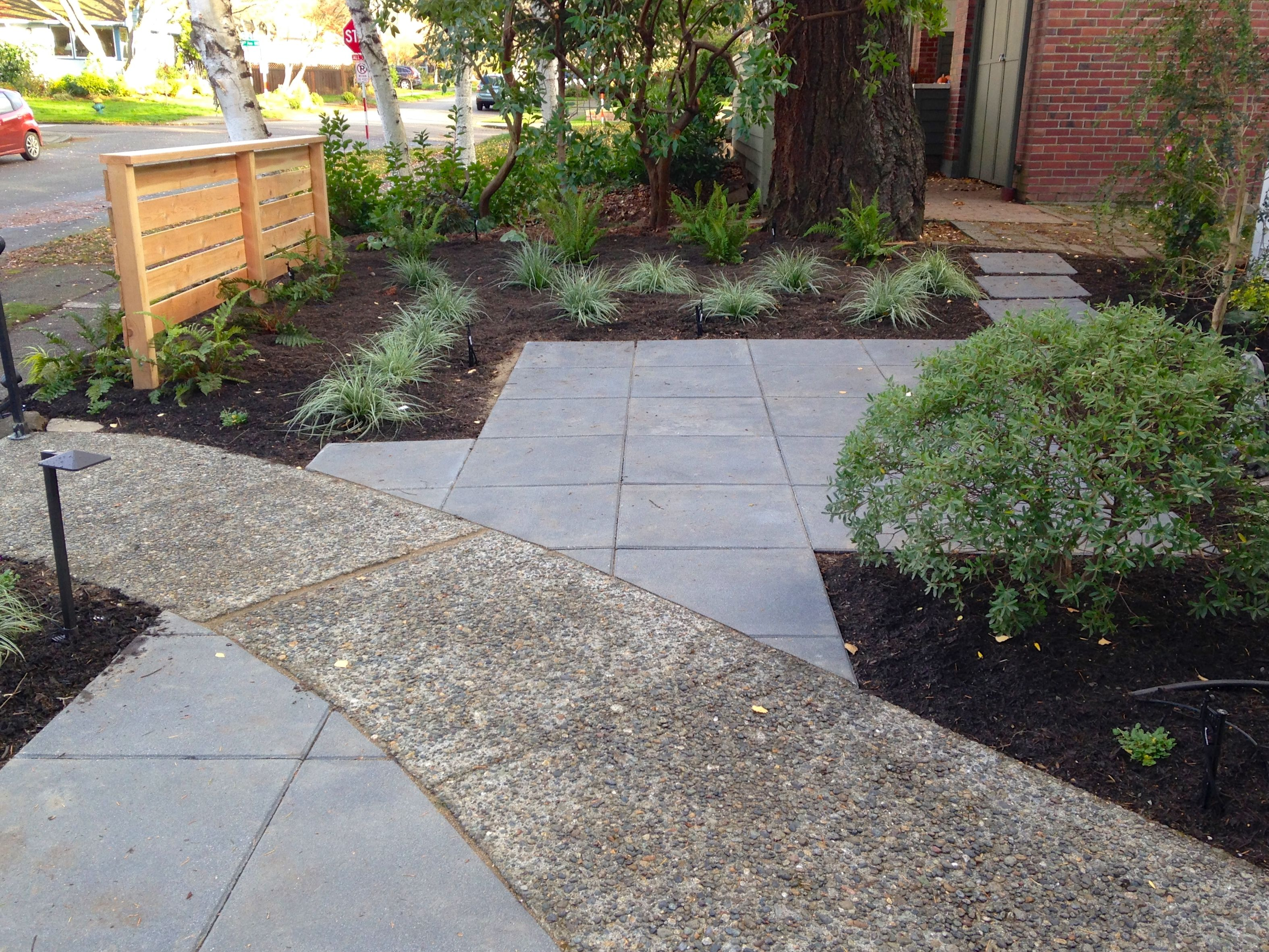 Patio Incorporated Into Existing Walkway Gretchen Bauer Design Hardscape Side Yard Garden