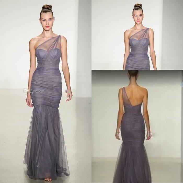 Sheer Silver Bridesmaid Dress