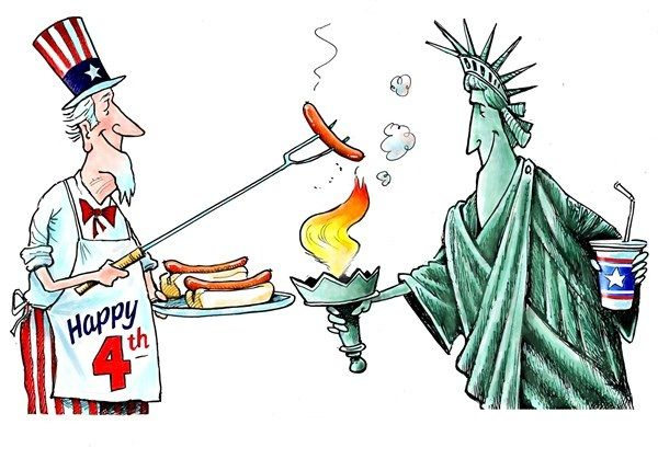 Funny 4th of July Cartoons | Fourth of july meme, Funny 4th of ...
