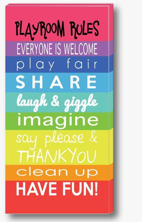 rainbow colored playroom - Google Search