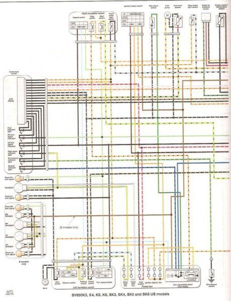 2000 Sv650 Wiring Diagram | Motorcycle wiring, Diagram, Suzuki motorcyclePinterest