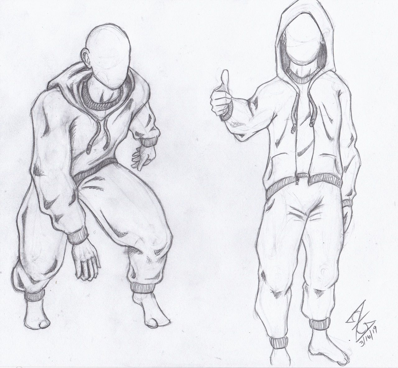 Hoodie And Sweatpants Reference Drawing By Zerkcie On Deviantart