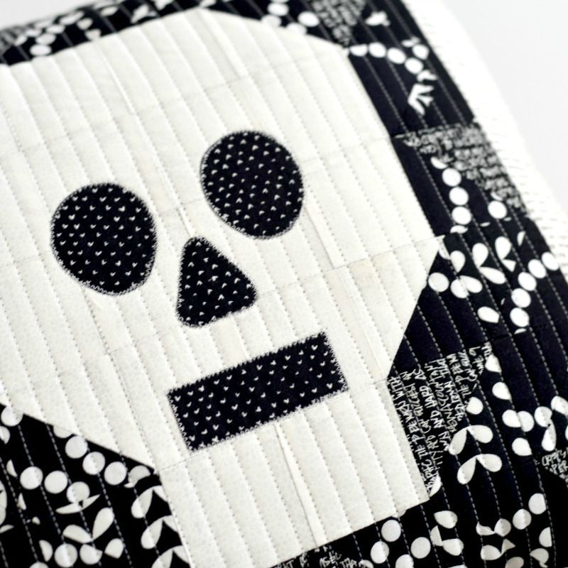 Quilted Skull Pillow