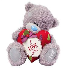 """12"""" I Love You Padded Heart Me to You Bear"""