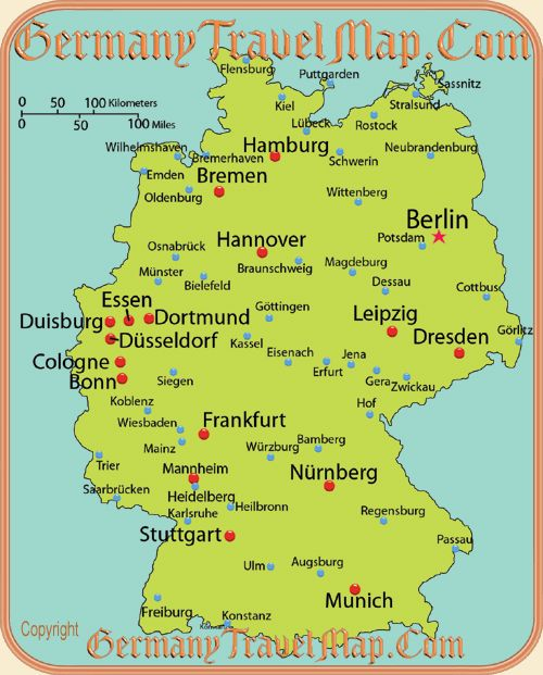 Map of German Cities Germanyits in my blood Pinterest