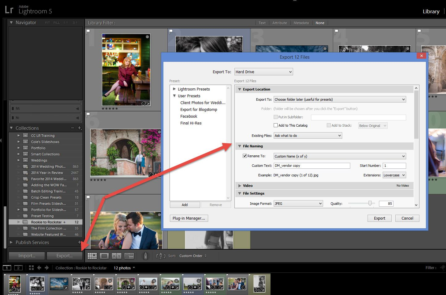 How To Easily Create A Lightroom Export Preset Lightroom Workflow Lightroom Export Photoshop Lightroom