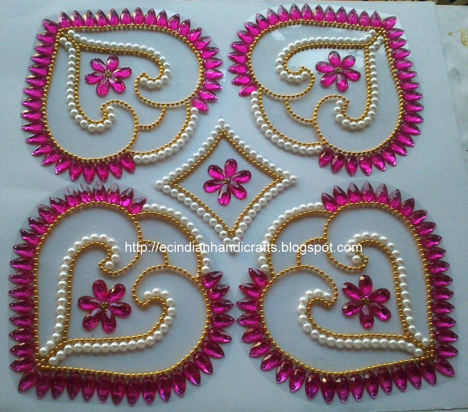 Shell Designs Ec Indian Handicrafts Customised Kundan Rangolis Double Shell