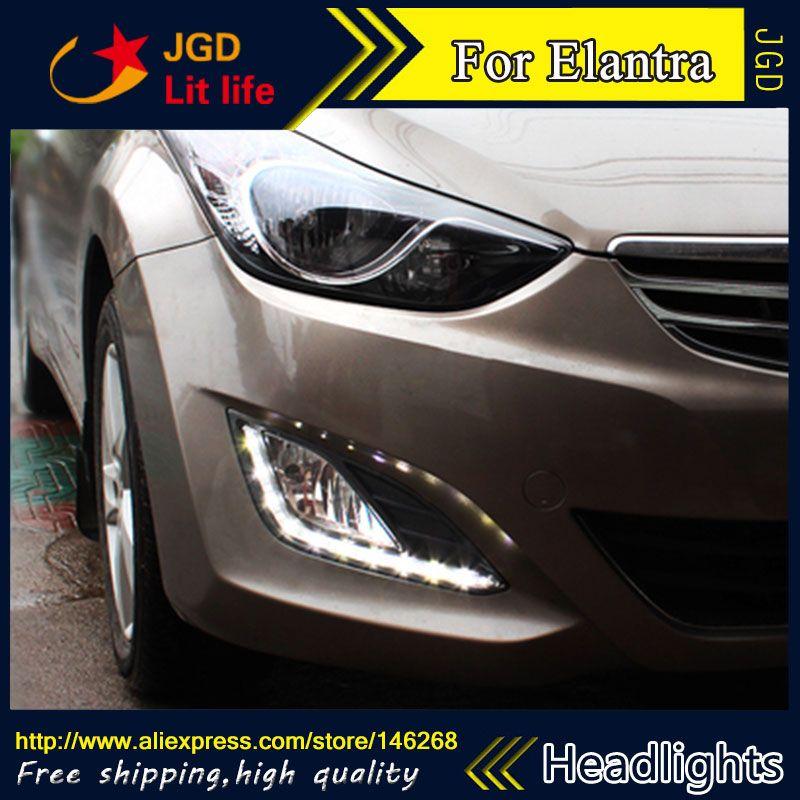 Free Shipping 12v 6000k Led Drl Daytime Running Light For Hyundai Elantra Fog Lamp Frame Fog Light Car Styling Elantra Hyundai Elantra Elantra 2012