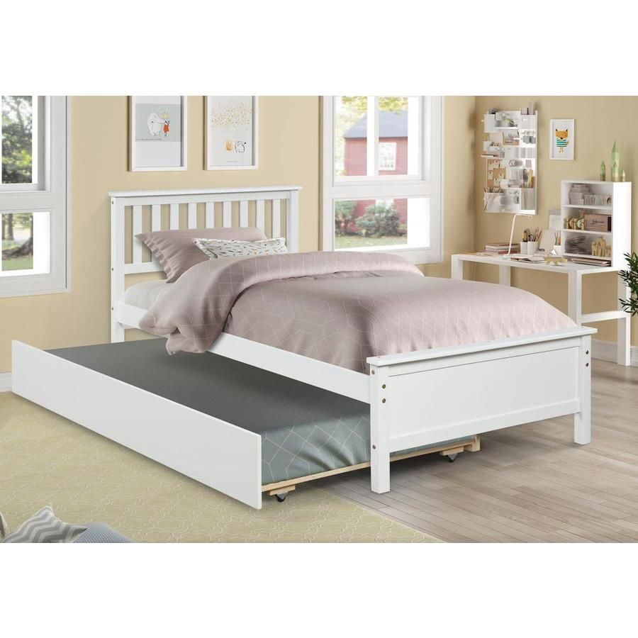 Casainc Twin Trundle Bed With Storage White Twin Bed Frame With Storage Lowes Com Solid Wood Platform Bed Twin Platform Bed Frame Trundle Bed With Storage Cheap twin beds with trundles