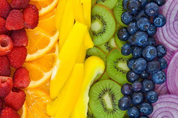 Beneficios de las frutas según su color.