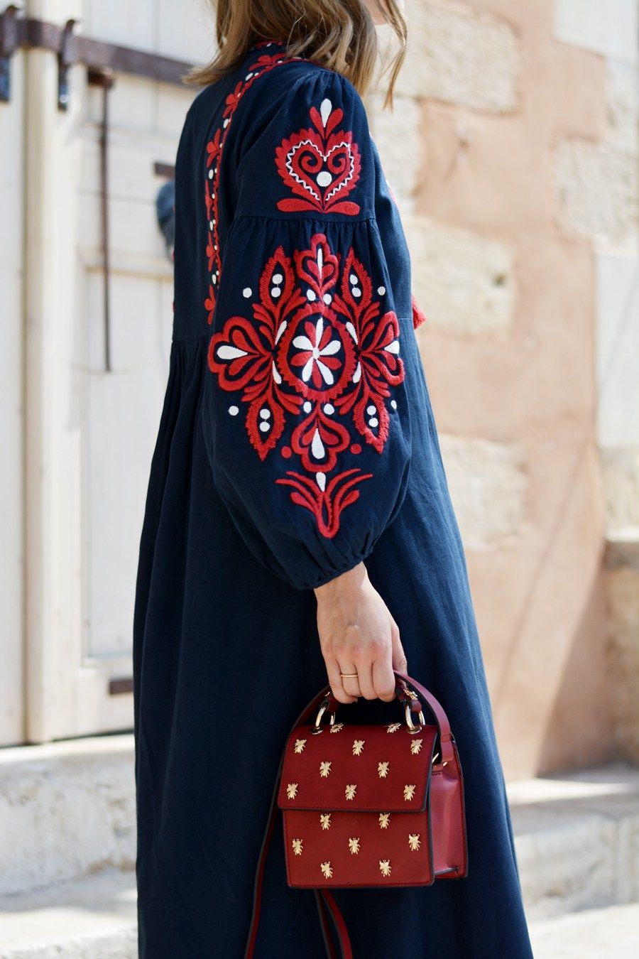 More on Long Dress with Ethno