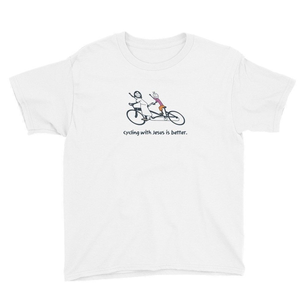 Cycling With Jesus Is Better - Youth T-Shirt
