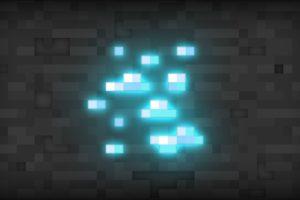 Minecraft Video Games Abstract Texture Patterns Squares Lights 3d Wallpaper Minecraft Wallpaper Minecraft Video Games Diamond Wallpaper
