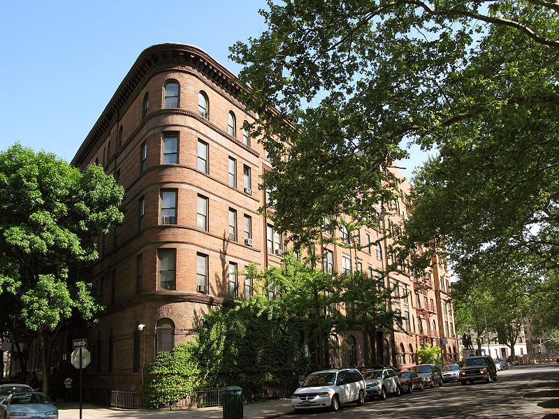 Apartment building in the Morningside Heights neighborhood ...