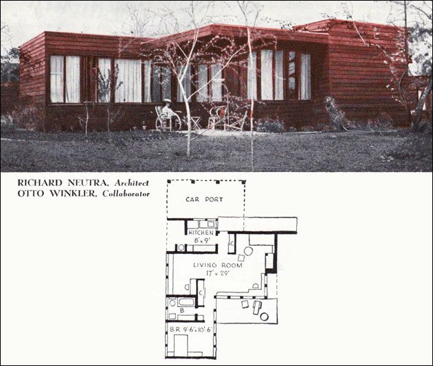 1940 700 Sq Ft Plan By Richard Neutra With Lots Of Windows